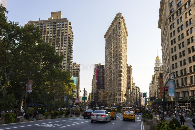 Bâtiment de fer à repasser, New York City photos stock