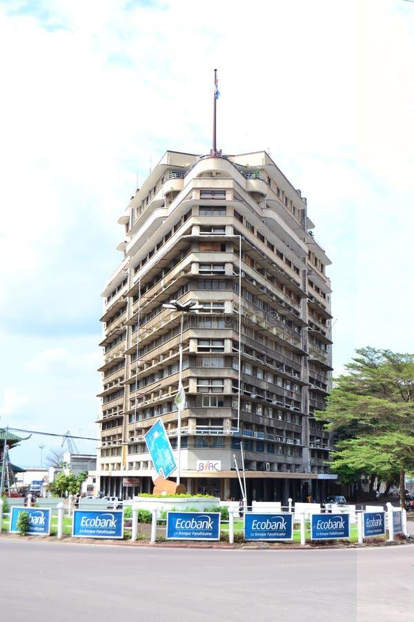 Bâtiment de Forescom à Kinshasa image libre de droits