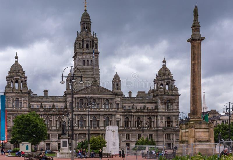 Bâtiment de Glasgow City Chambers, Ecosse R-U photos stock