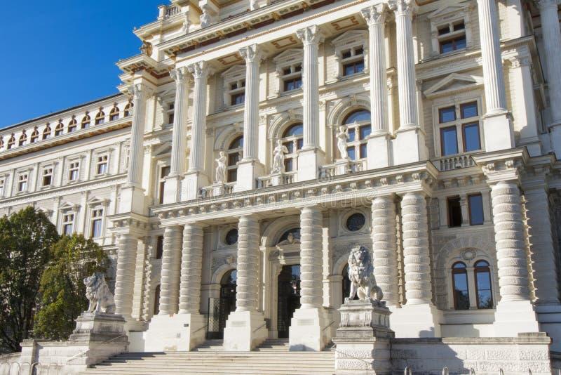 Bâtiment de Justizpalast de la Cour la plus Suprême à Vienne, Autriche photo libre de droits