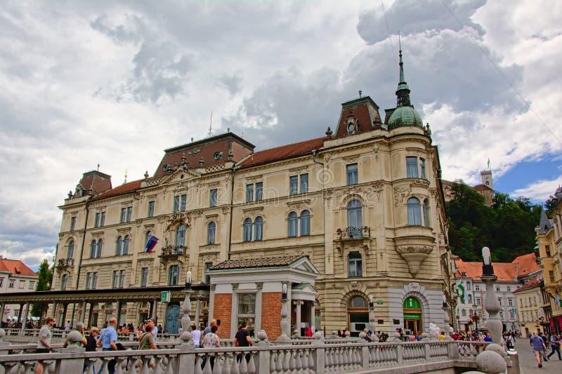 Bâtiment de Kresija, Ljubljana photos stock