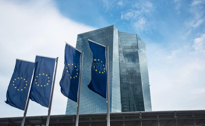 Bâtiment de la Banque Centrale Européenne BCE à Francfort photographie stock