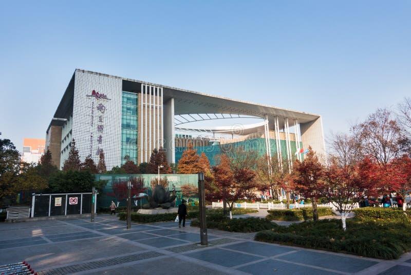 Bâtiment de la bibliothèque de Nanjing image stock
