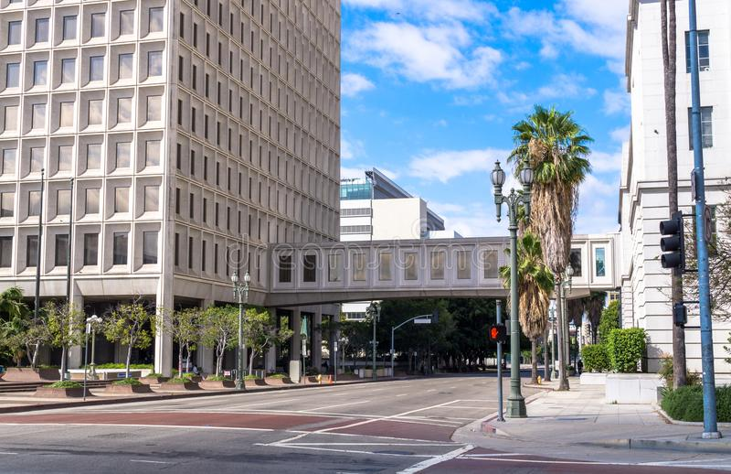 Bâtiment de la cour fédérale à Los Angeles, la Californie, Etats-Unis photos stock