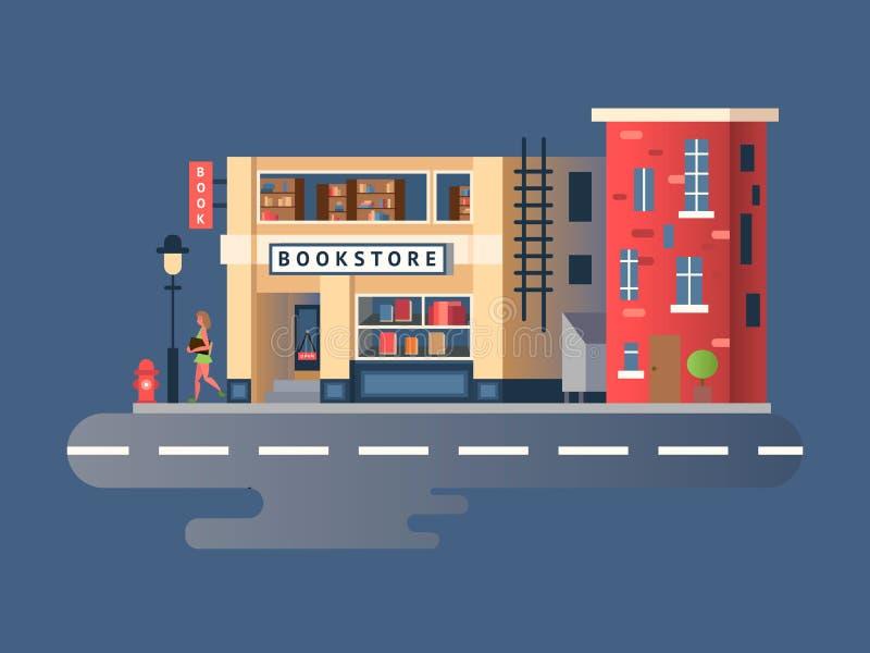 Bâtiment de librairie illustration stock