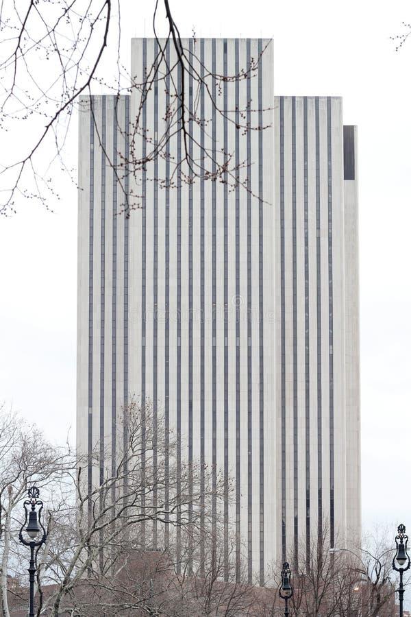 Bâtiment de Manhattan avec les lignes verticales photo libre de droits