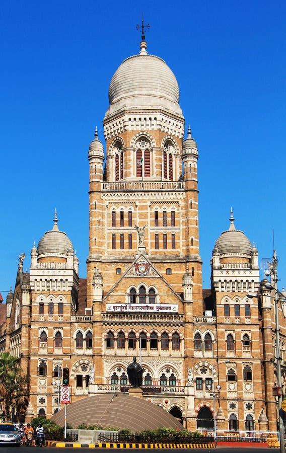 Bâtiment de Municipal Corporation de Mumbai, Inde photographie stock libre de droits