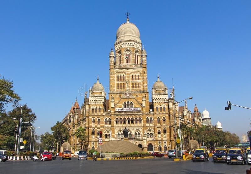 Bâtiment de Municipal Corporation de Mumbai, Inde photographie stock