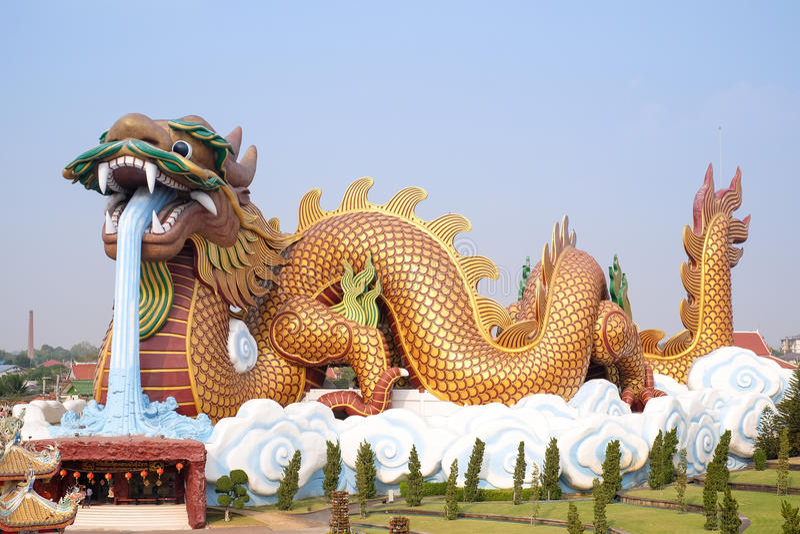 Bâtiment de musée de descendants de dragon en Thaïlande images stock