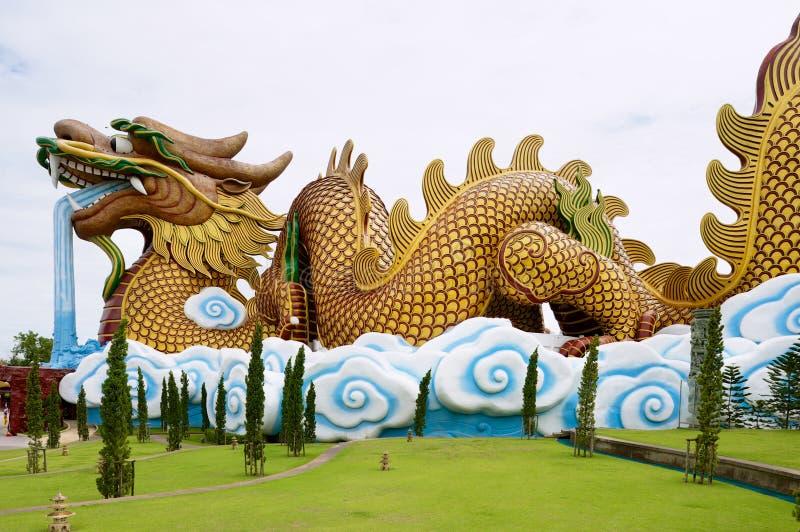 B?timent de mus?e de Dragon Descendants dans Suphan Buri, Tha?lande images libres de droits