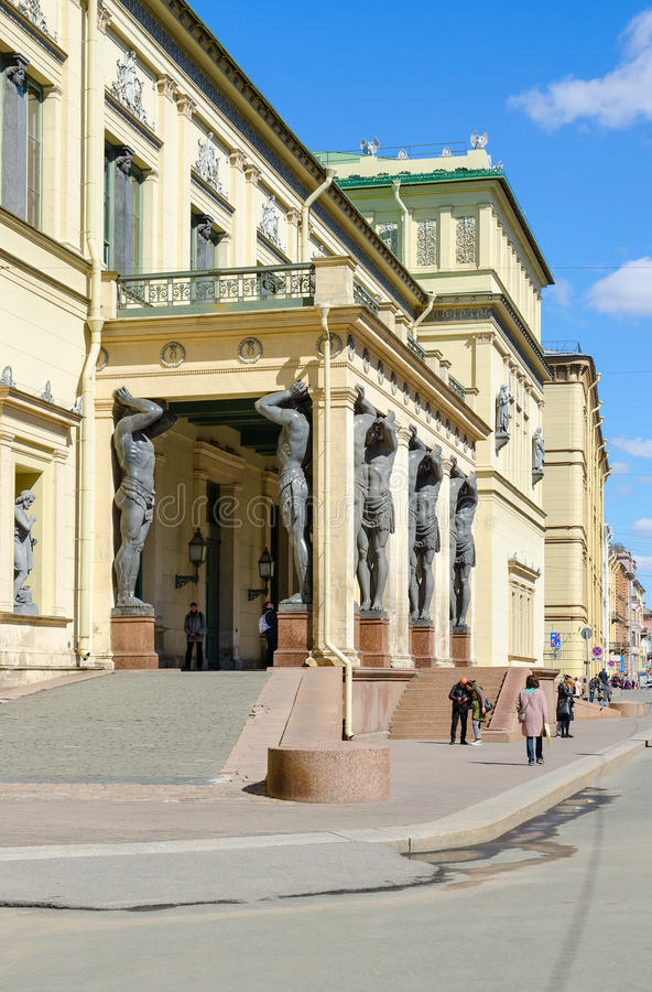 Bâtiment de nouvel ermitage sur la rue de Millionnaya, St Petersburg, Russie images stock