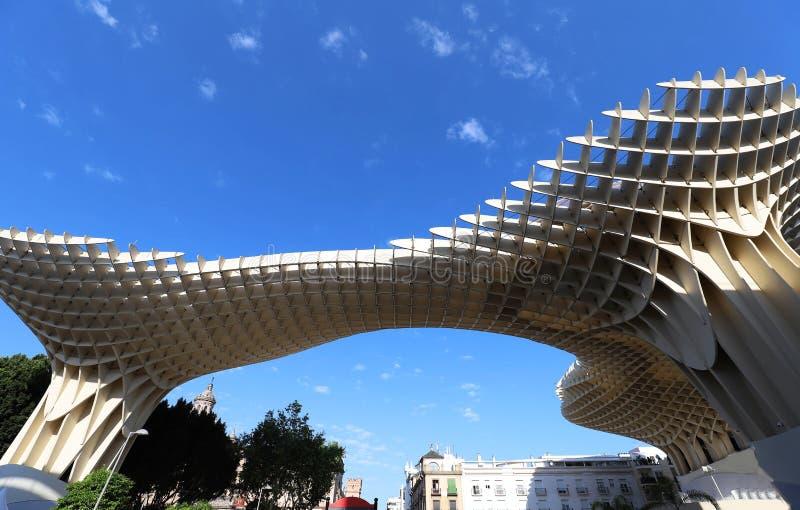 Bâtiment de parasol de parasol de Metropol conception en Séville, Espagne de J Des architectes de J Architectes photographie stock libre de droits
