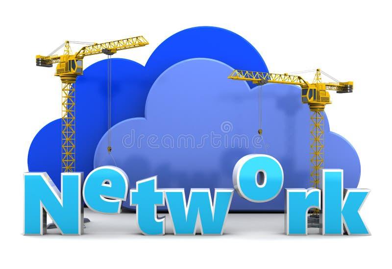 Bâtiment de réseau illustration de vecteur