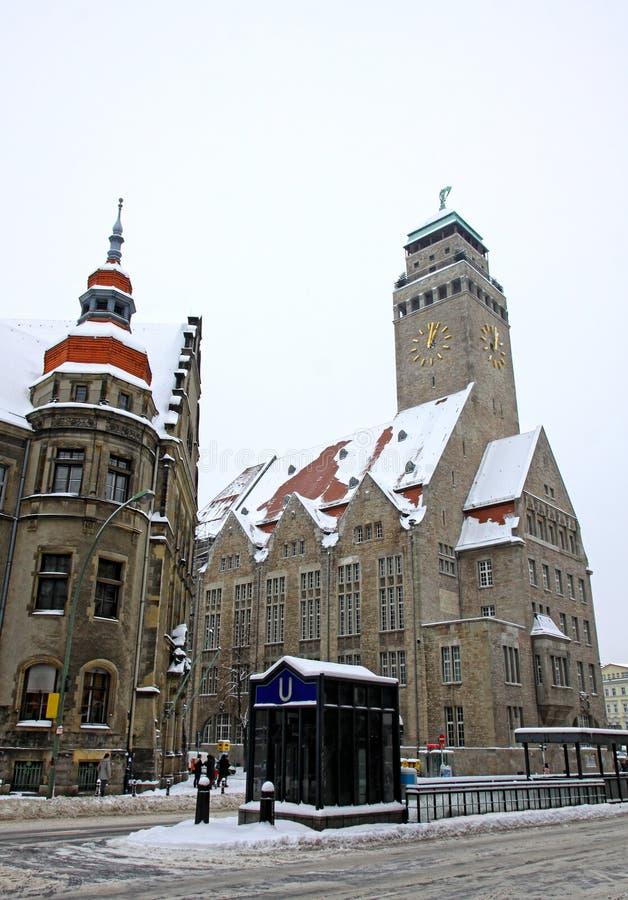 Bâtiment de Rathaus de localité de centre-ville de Neukolln à Berlin images libres de droits