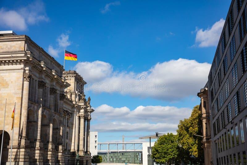 Bâtiment de Reichstag, le Parlement allemand à Berlin, Allemagne image libre de droits