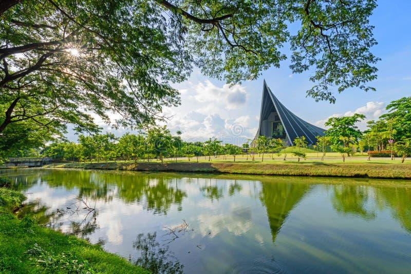 Bâtiment de Rince Mahidol Hall d'université de Mahidol images libres de droits