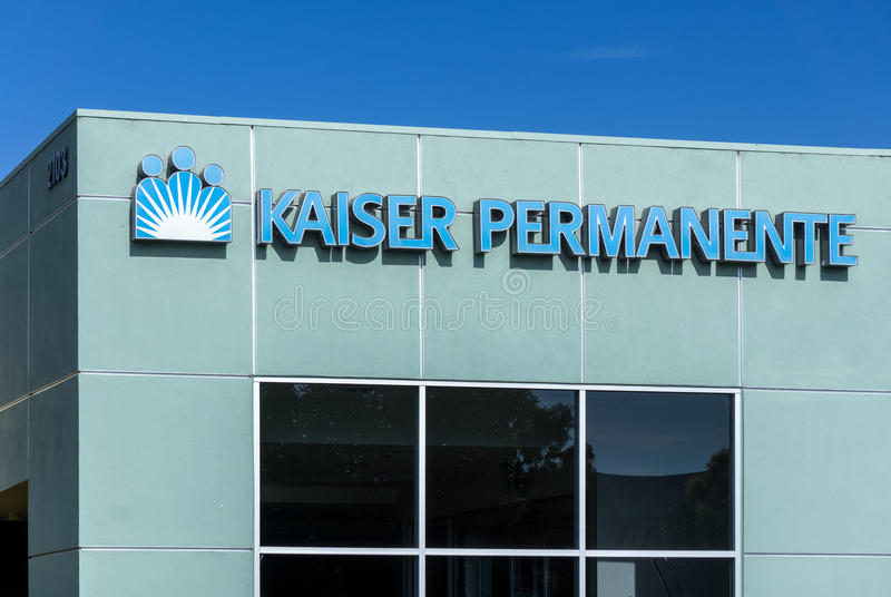 Bâtiment de soins médicaux de Kaiser Permanente images libres de droits