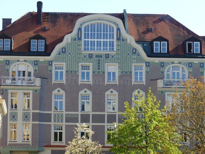 Bâtiment de style de liberté au centre de Munich l'allemagne photos libres de droits