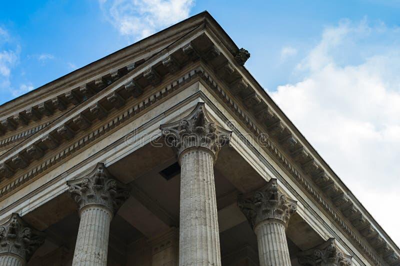 Bâtiment de style romain images libres de droits