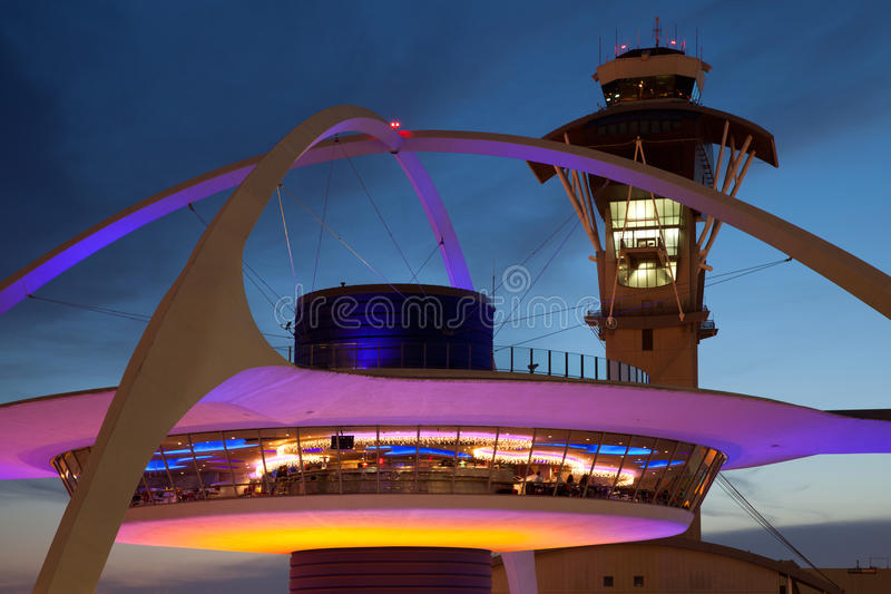Aéroport international LAX de Los Angeles image stock