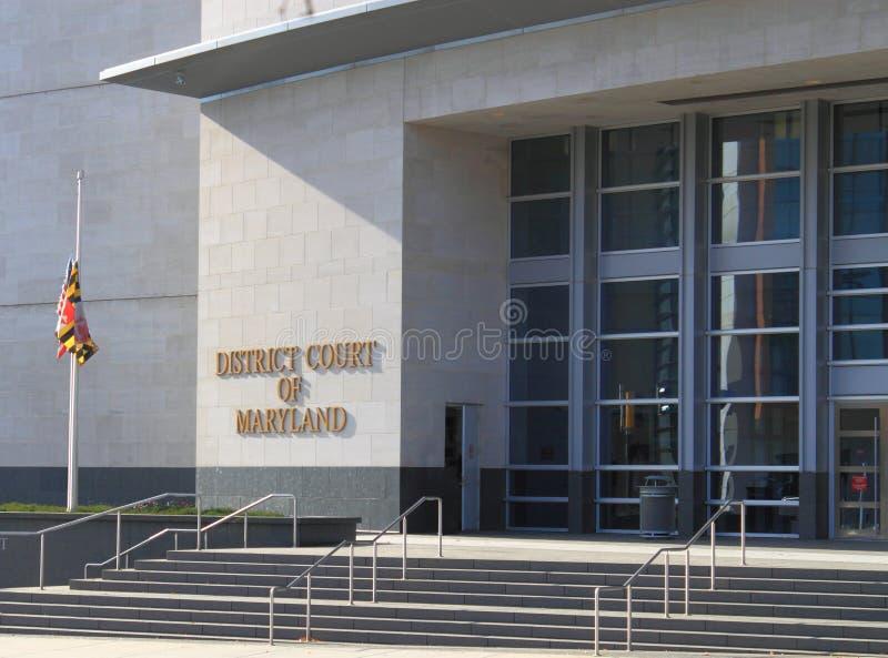 Bâtiment de tribunal d'arrondissement images libres de droits