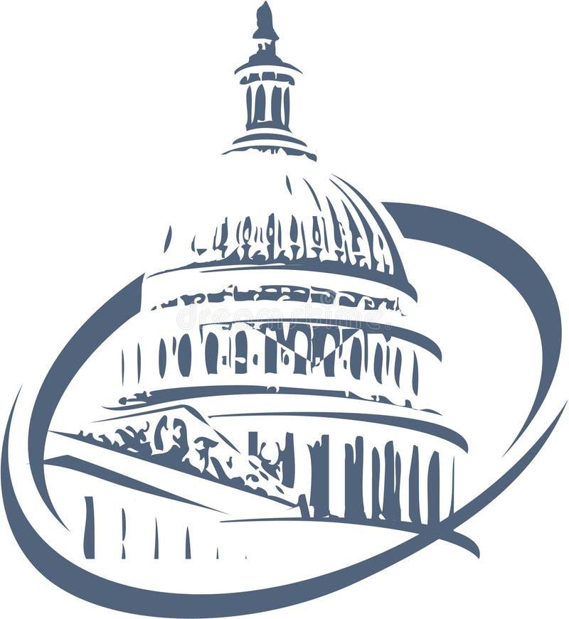 Bâtiment de Washington illustration libre de droits