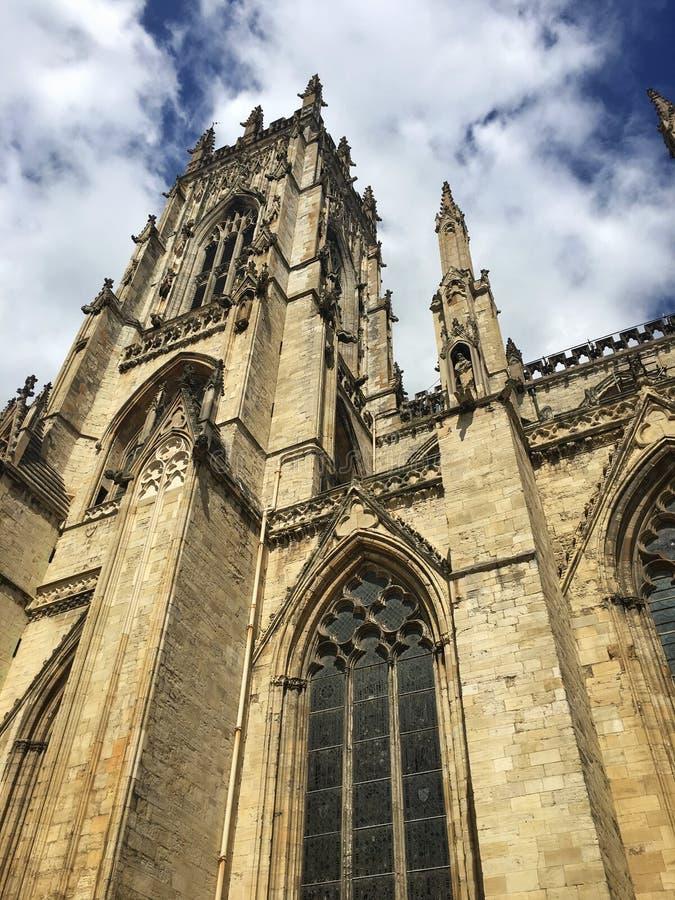 Bâtiment de York Minster dans North Yorkshire, Angleterre images libres de droits