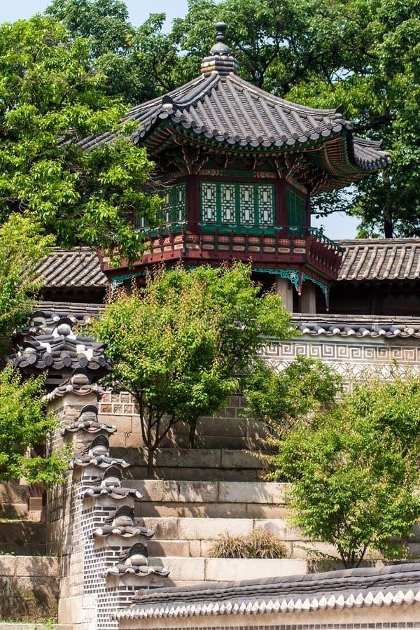 Bâtiment du palais royal de Changdeokgung, Séoul, Corée du Sud photo stock