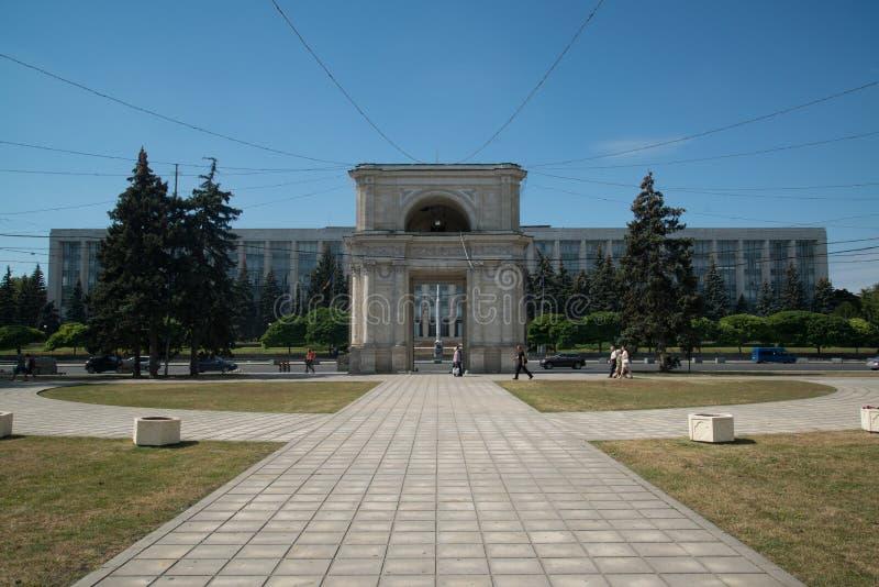 Bâtiment du Parlement à Chisinau, Moldau photo stock
