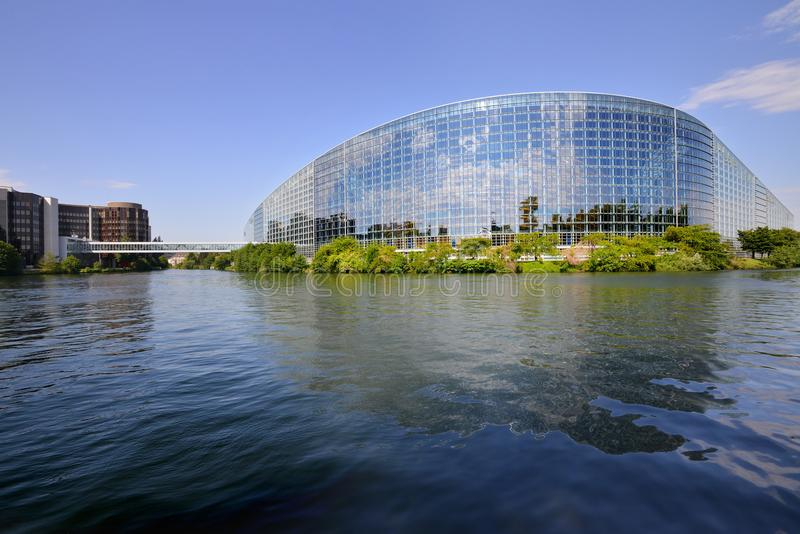 Bâtiment du Parlement européen à Strasbourg, France images stock