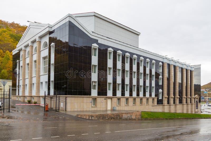 Bâtiment du théâtre de drame et de comédie de Kamchatsky, Petropavlovsk-Kamchatsky, Russie photos stock