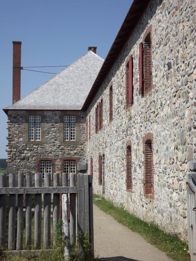 Bâtiment en pierre de Louisbourg de forteresse vieux photo libre de droits