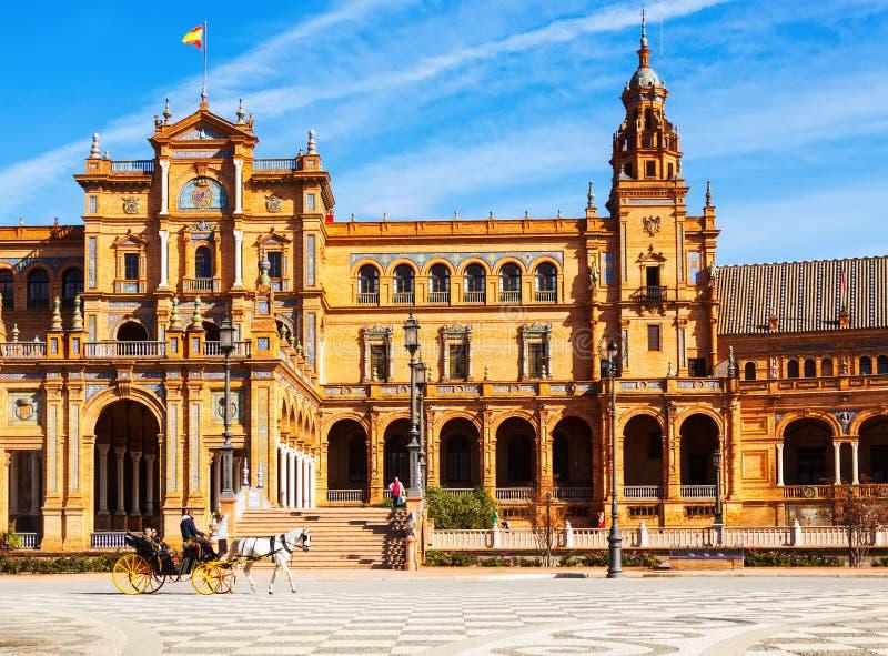 Bâtiment entral de  de Ñ chez Plaza de Espana photos stock