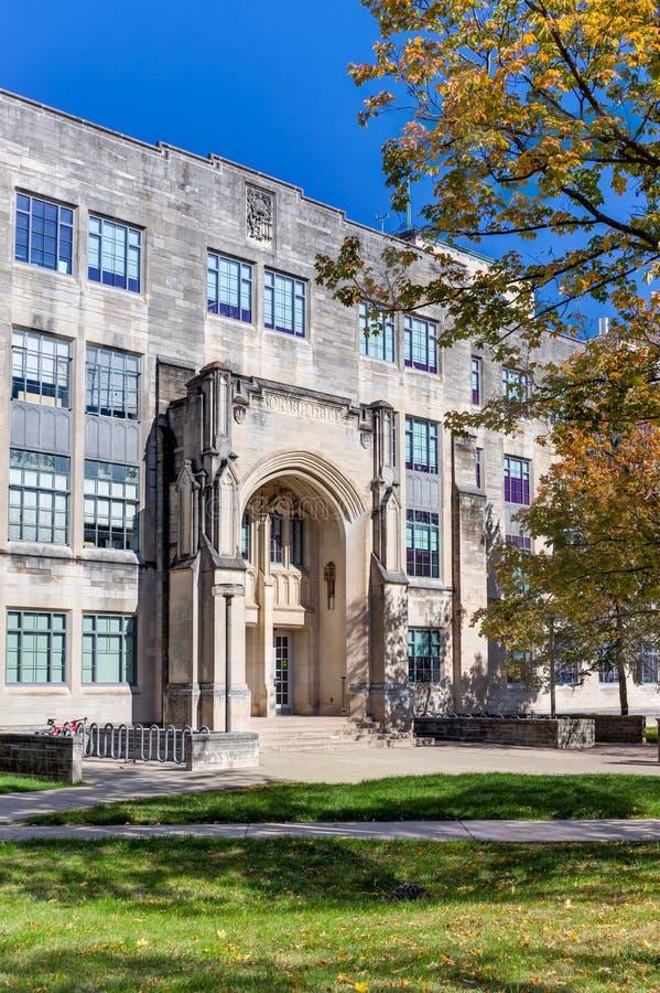 Bâtiment et Jordan Hall de la Science d'université photographie stock
