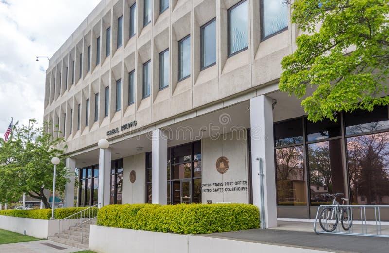 Bâtiment et tribunal fédéraux dans le d& x27 de Coeur ; Alene, Idaho photographie stock libre de droits