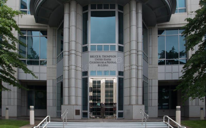 Bâtiment et tribunal fédéraux en Reno Nevada images stock