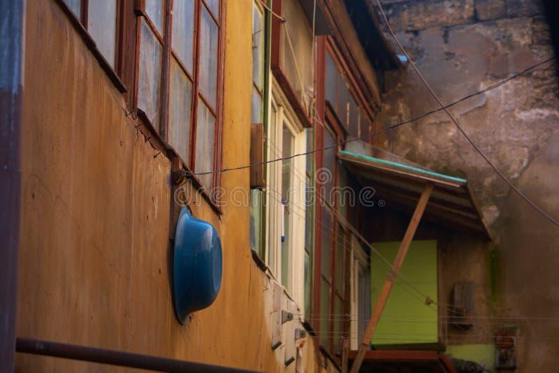 bâtiment extérieur de vieille maison d'architecture photo stock