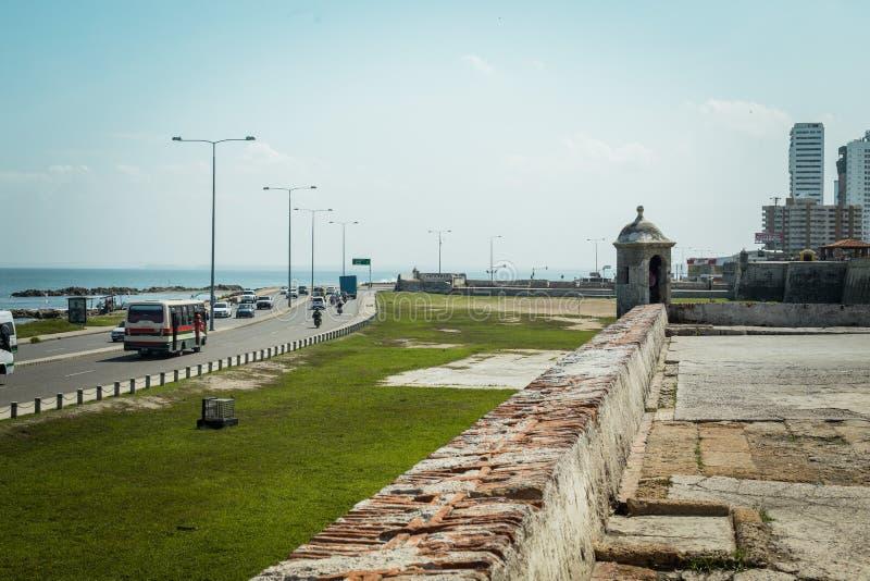 Bâtiment historique à Carthagène, ¡ de BogotÃ, Colombie images libres de droits