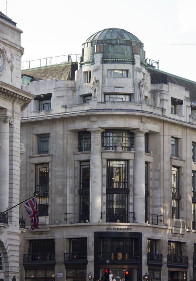 Bâtiment historique de Burberry au coeur de Londres photographie stock