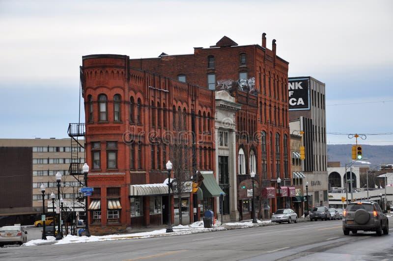 Bâtiment historique l'état à Utica, New-York, Etats-Unis photo stock