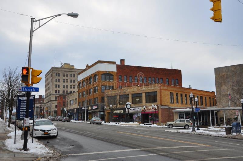 Bâtiment historique l'état à Utica, New-York, Etats-Unis photo libre de droits