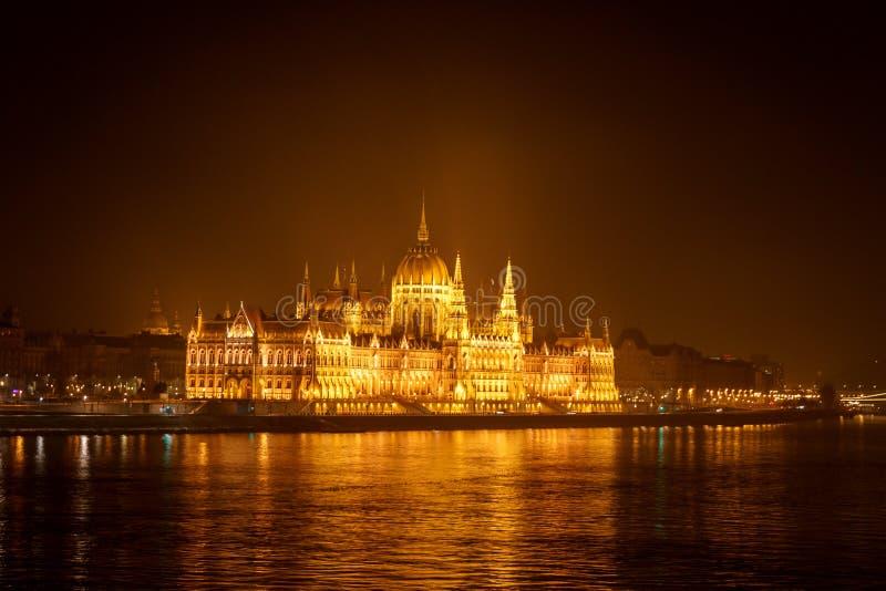 Bâtiment hongrois du Parlement de Budapest images libres de droits