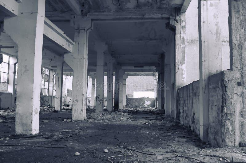 Bâtiment industriel abandonné photographie stock