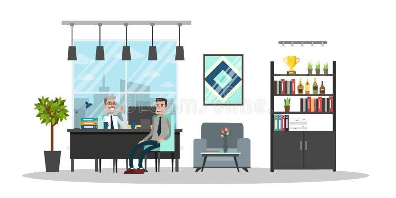 Bâtiment intérieur de bureau illustration de vecteur