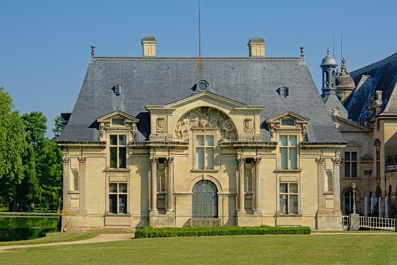 Bâtiment latéral du château de Chantilly, France photographie stock