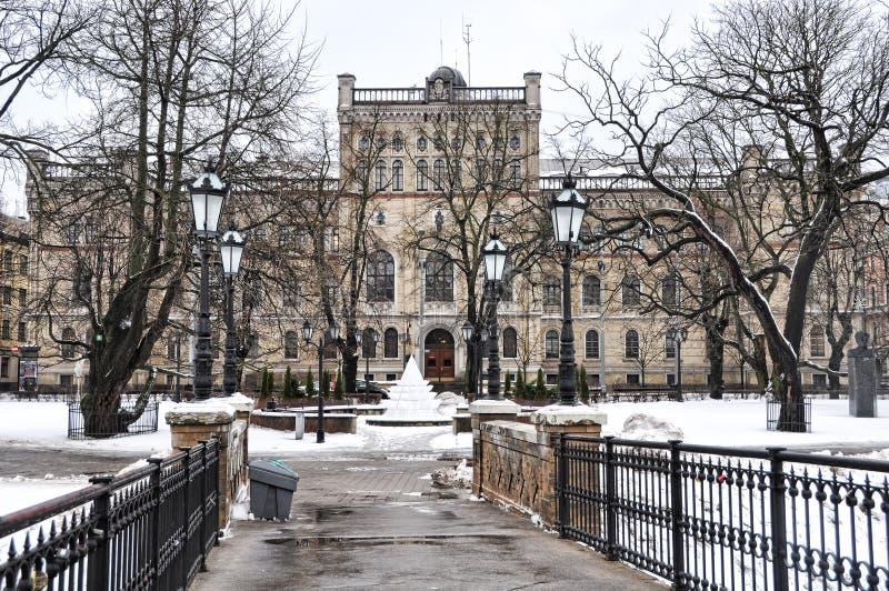Bâtiment letton d'université photo stock