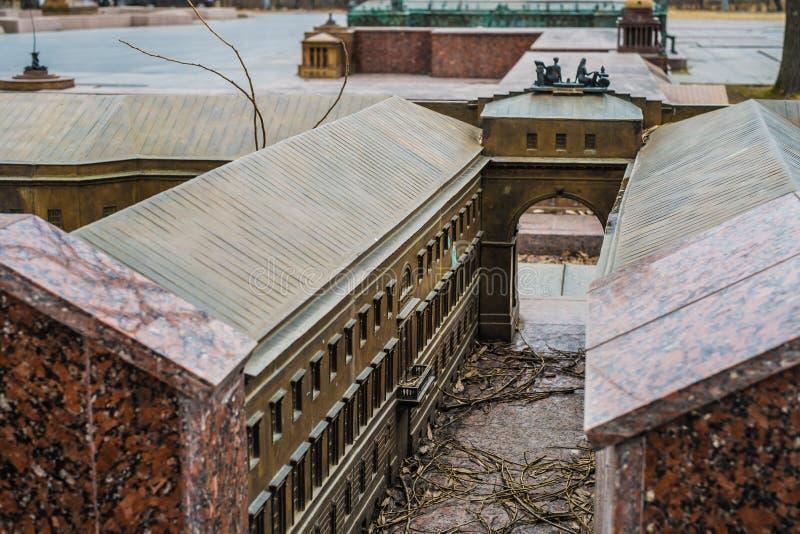 Bâtiment miniature d'ermitage à St Petersburg, vue de plan rapproché photographie stock