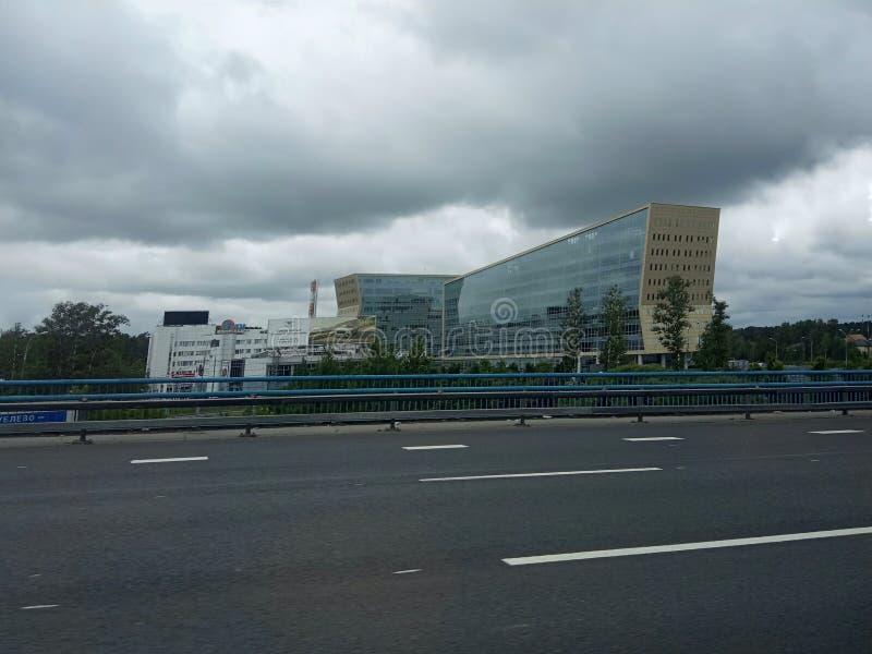 Bâtiment moderne à la ville image stock