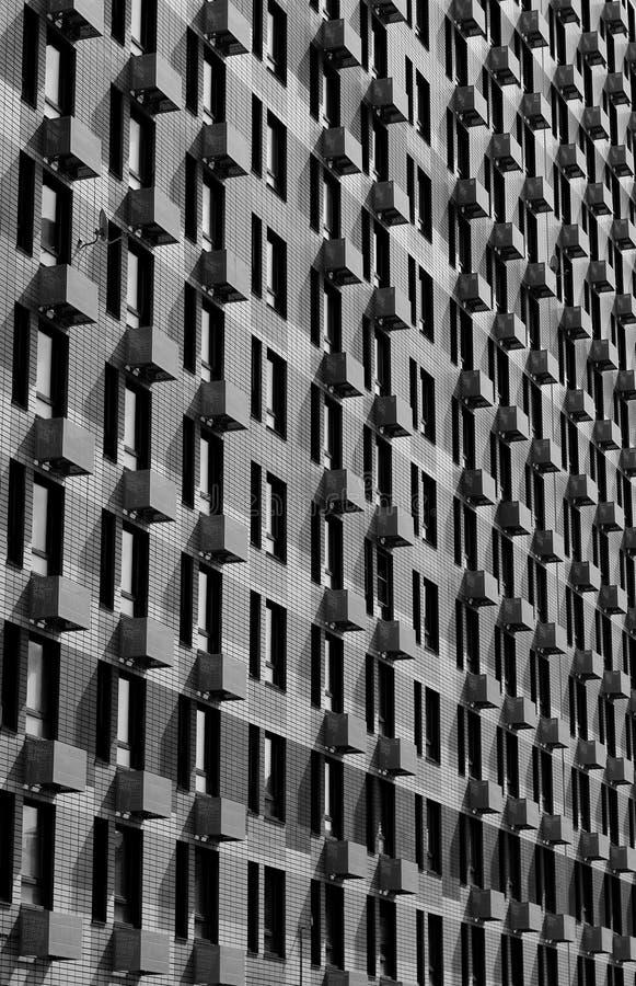Bâtiment moderne de mur image stock