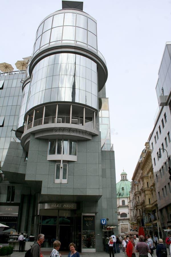 Bâtiment moderne en Autriche Stephansplatz, Vienne, image libre de droits